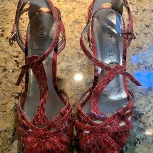 Pink White House Black Market strappy heels